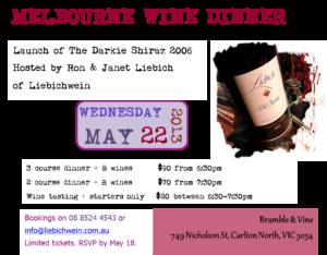 Wine tasting & dinner in Melbourne
