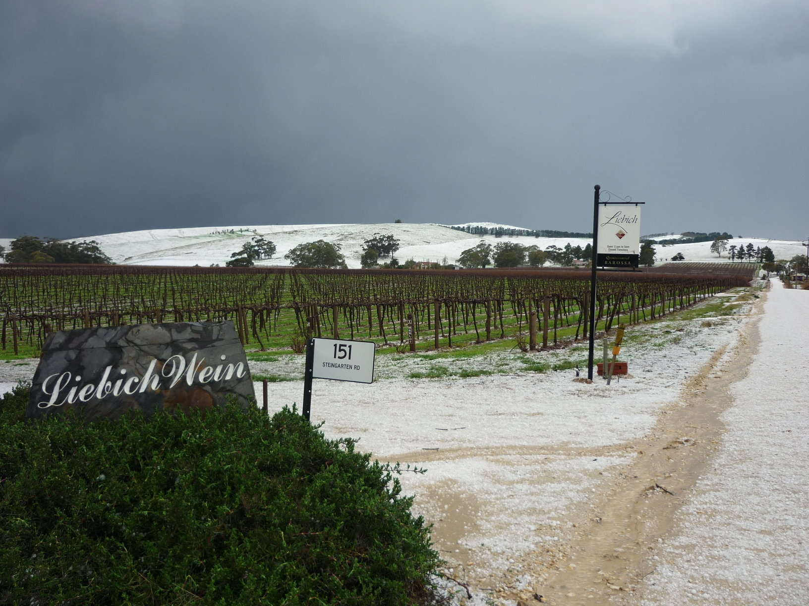 Barossa Winter Storm Looked Like Snow