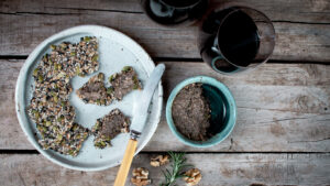 recipe vegan walnut mushroom port pate